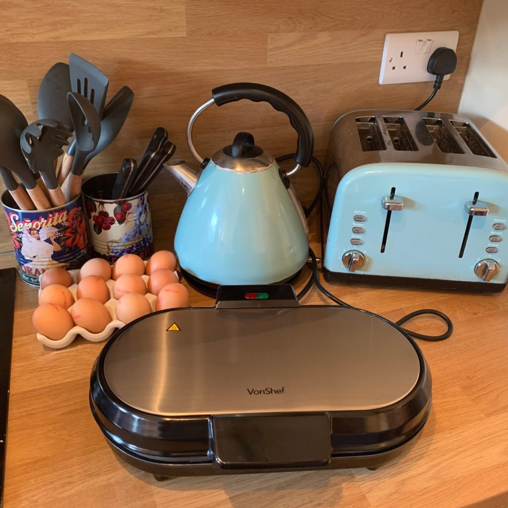 Waffle Maker in Kitchen